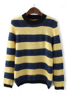 Casual Striped Pullover Sweater