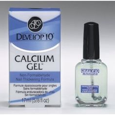 Develop 10 Calcium Gel Nail Thickening Formula 17 ml (5/8 OZ) - It seriously works. My nails went from super brittle and couldn't grow  to super strong and super long!