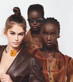 The late Karl Lagerfeld captured Fendi's spring-summer 2019 campaign. Starring Kaia Gerber, Adut Akech and Anok Yai; the studio images feature miniature stairs… Kaia Gerber, Karl Lagerfeld, Black Power, Fille De Cindy Crawford, Nude Outfits, Gucci, Model Photographers, Rock, Coco Chanel