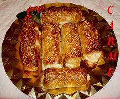 Hojaldres de queso y beicon