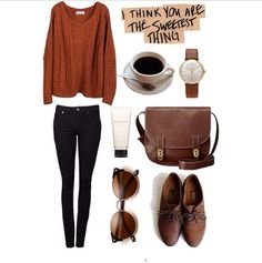 I like these falls colors. I really like earth tones. And mixing earth tones with black Skinny Jeans!