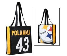 Pittsburgh Steelers Troy Polamalu Shopper Tote by LittlEarth. $9.95. Troy Polamalu Shopper Tote