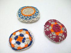 Crocheted Lace Stones #handmade#