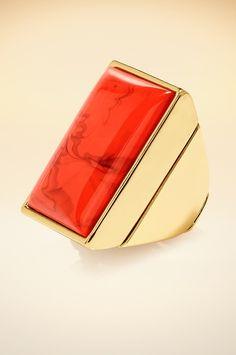 Square cocktail ring. #BostonProper #Jewelry