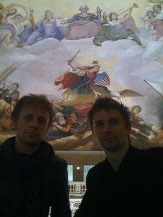 Dominic Howard and Matthew Bellamy