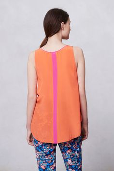 Piped Silk Tank - Anthropologie.com