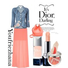 Orange spring by youfriezhana-stardoll on Polyvore featuring polyvore, fashion, style, Christian Dior, Yumi, Christian Louboutin and 3.1 Phillip Lim