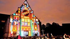Projection lumineuse sur la Cathédrale de la Treille de Lille ce week-end #lille3000 #fantastic