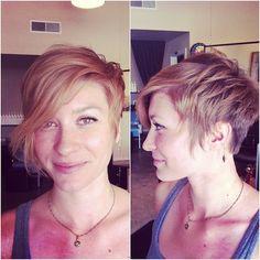 short asymmetrical hair with baby bangs - Google Search
