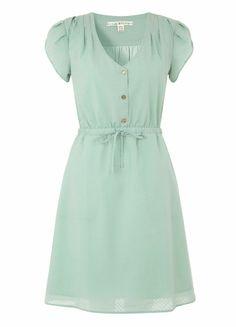 Minty green/blue petal sleeved dress <3