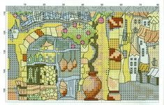 Gallery.ru / Фото #1 - Домики Прованса - mila010154 Michael Powell Cross Stitch, Vintage World Maps, Crossstitch, Provence, Houses, Cross Stitch, Homes, Punto De Cruz, Seed Stitch