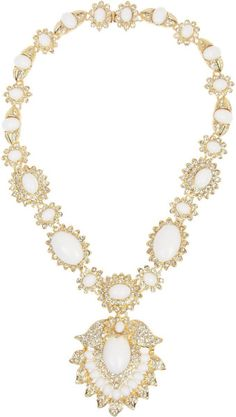Kenneth Jay Lane Goldplated Cabochon Necklace www.finditforweddings.com   ON SALE ...