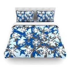 East Urban Home Ice Topography by Miranda Mol Featherweight Duvet Cover Size: