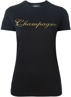Dsquared2 champagne print T-shirt