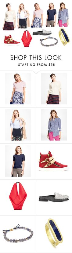 """Blow of Best Offers"" by donna-wang1 ❤ liked on Polyvore featuring Brooks Brothers, Giuseppe Zanotti, MM6 Maison Margiela, Opening Ceremony, Gorjana, Monica Vinader and vintage"