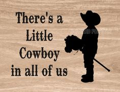 Little Cowboy Printable Western Art Sign Print JPEG Instant Digital Download You Print Boy's Room Decor for Home or Office or Gift Giving