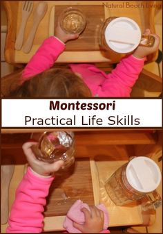 12 months of Montessori Learning, practical life, Language Arts, Sensorial, Geography Montessori activities Maria Montessori www.naturalbeachliving.com
