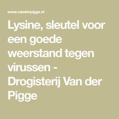 Lysine, sleutel voor een goede weerstand tegen virussen - Drogisterij Van der Pigge
