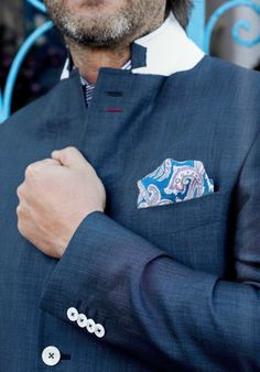 Cachemere theme pocket square