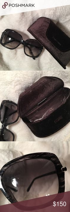 TOM FORD sunglasses Timeless  Grayish shell  Never worn Practically brand new Tom Ford Accessories Sunglasses