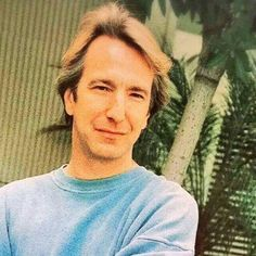 Alan Rickman -- Looks like I have another research project ... Gotta find a date for this photo ... or at least a year.