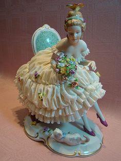 *DRESDEN ~ German, porcelain figurine I