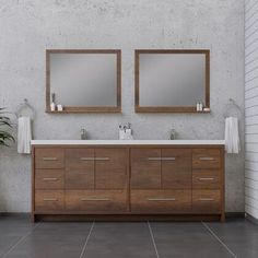 Sorto Collection AB-MD684-RW 84 inch Modern Bathroom Vanity in Rosewood