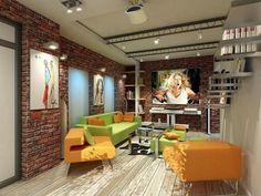 metal beams ceiling decorating ideas exposed brick wall living room design