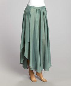 Another great find on #zulily! Green Sunset Maxi Skirt - Women by Tasha Polizzi #zulilyfinds
