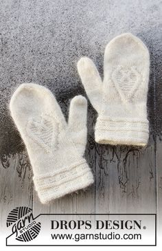 Knitting Designs, Knitting Patterns Free, Free Knitting, Free Pattern, Knit Mittens, Knitted Gloves, Drops Design, Knit Boots, Cast Off