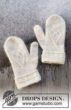 Dagens gratisoppskrift: Let it Knit | Strikkeoppskrift.com Knitting Designs, Knitting Patterns Free, Free Knitting, Free Pattern, Drops Design, Knit Mittens, Knitted Gloves, Drops Kid Silk, Drops Alpaca