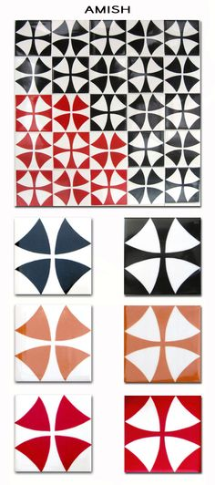 more tiles - these are from tilesbytextiles, with patterns based on lovely textiles prints. This is my favourite, its almost op-art on a whole wall