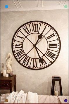 "37/""H Oversized Metal Peacock Train Feather Eyes Contemporary Pendulum Wall Clock"