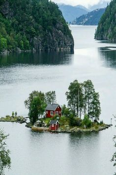 Little Island Set In A Norwegian Fjord. Places Around The World, The Places Youll Go, Places To See, Around The Worlds, Beautiful World, Beautiful Places, Beautiful Norway, Beautiful Pictures, Amazing Photos