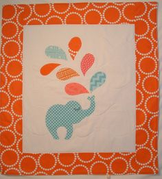 Elephant Blanket in blue pink, oral and blue.  #fisherprice #pinparty