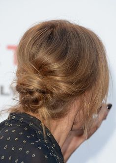 Twist Hairstyles For Short Hair - Messy Twisted Low Bun