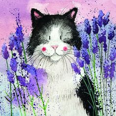 Lavender Cat by Alex Clark