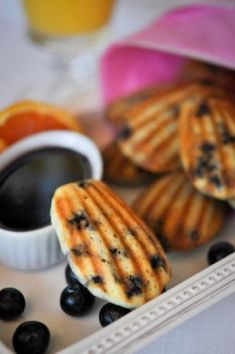 Blueberry Ricotta Pancake Dippers perfect for breakfast in bed.