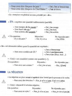 pronom En French Teacher, French Class, French Lessons, Teaching French, French Words, French Quotes, Language Study, French Language, French Practice