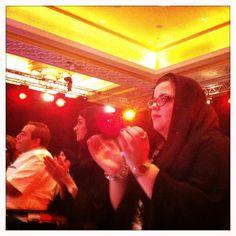 #ADFF12 @SilviaRazgova - Audience welcomes #Arab #Filmmaker Panel at the #AbuDhabi #UAE