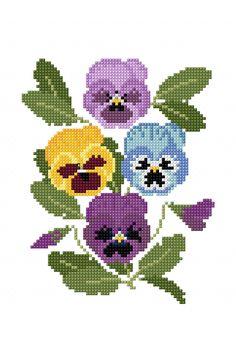 Pensamientos decorativos, diagrama de bordado gratis para descargar de DMC