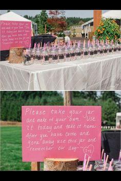 Mason jar wedding crafts
