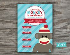 Hey, I found this really awesome Etsy listing at http://www.etsy.com/listing/127763938/custom-printable-sock-monkey-baby-shower
