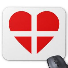 Switzerland/Swiss Flag-inspired Hearts Mouse Pad - red gifts color style cyo diy personalize unique