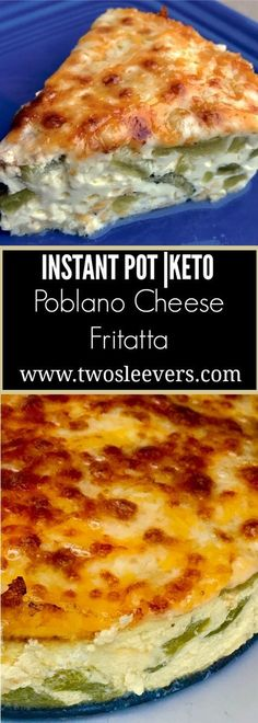Pressure Cooker Keto Poblano Cheese Quiche. Fluffy…