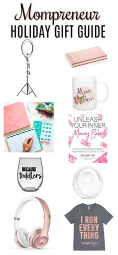 The holiday season is here! Need some gift ideas for the mom boss in your life? Check out the Mompreneur Holiday Gift Guide to find the perfect gift for any budget! #Mompreneuer #giftguide