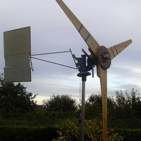 "Using an automotive alternator to construct a wind-powered electrical generator can reduce or eliminate dependency on ""grid"" power, even if the wind turbine is only used for lighting or recharging batteries. The average backyard engineer can construct a wind power plant in about two hours."
