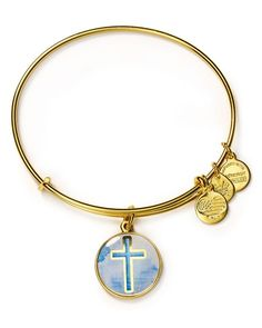 """Alex and Ani Art Infusion Cross Expandable Wire Bangle 