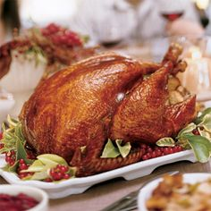 Cider brined turkey. This is my all-time favorite roasted turkey recipe - brining helps retain the moisture, and the turkey is super flavorful. #triedandtrue