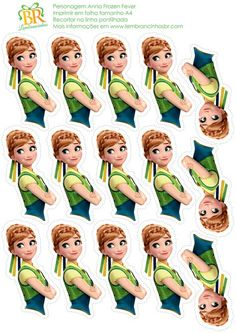 Print out onto cardstock for easy DIY Cupcake Toppers Disney Frozen Princess Anna